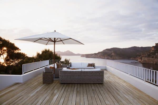 terrassen anbringung
